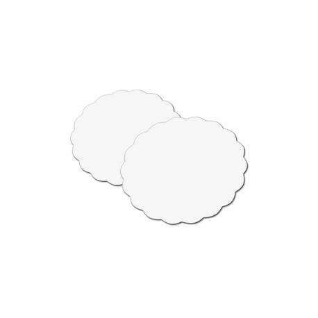 Rond festonne carton blanc pour gateau, tarte par 250