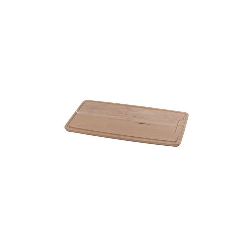planche d couper la viande en bois h tre avec rigole. Black Bedroom Furniture Sets. Home Design Ideas