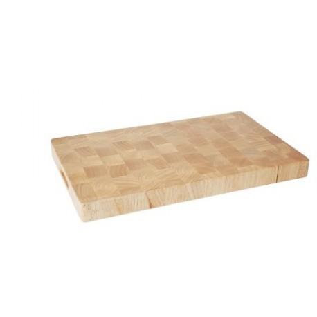 Planche à découper bois de hévéa avec poignées