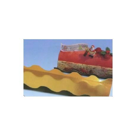 Paquet de 50 semelles à bûches, pâtisseries longues ondine en carton double face