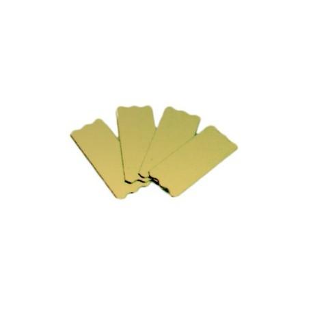 Semelle à bûchettes, mini-gâteaux rectangulaires en carton or bords droits x200