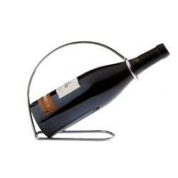 Porte bouteille en acier chrome pour le service