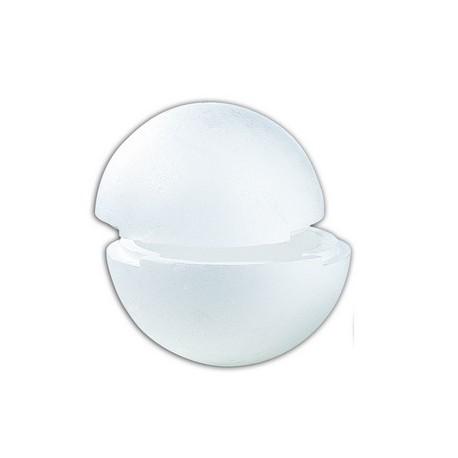 2 demi-boule polystyrène à assembler (la boule)