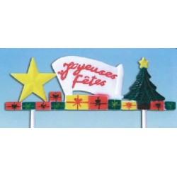 Frise joyeuses fêtes à piquer sur gâteaux et bûches par 50