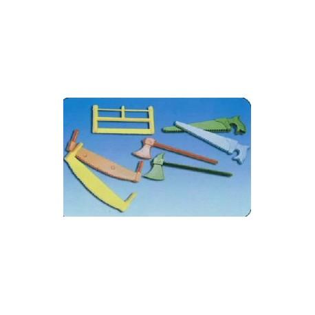Assortiments de 6 outils scies, haches pour buche noel par 100