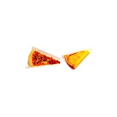 Triangle rainé carton blanc pour part de pizza, tarte par 250