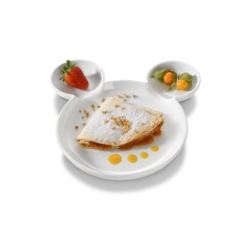 Assiette porcelaine tête ours spéciale enfant