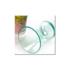 Verrine ronde 8cl vert d'eau par 12