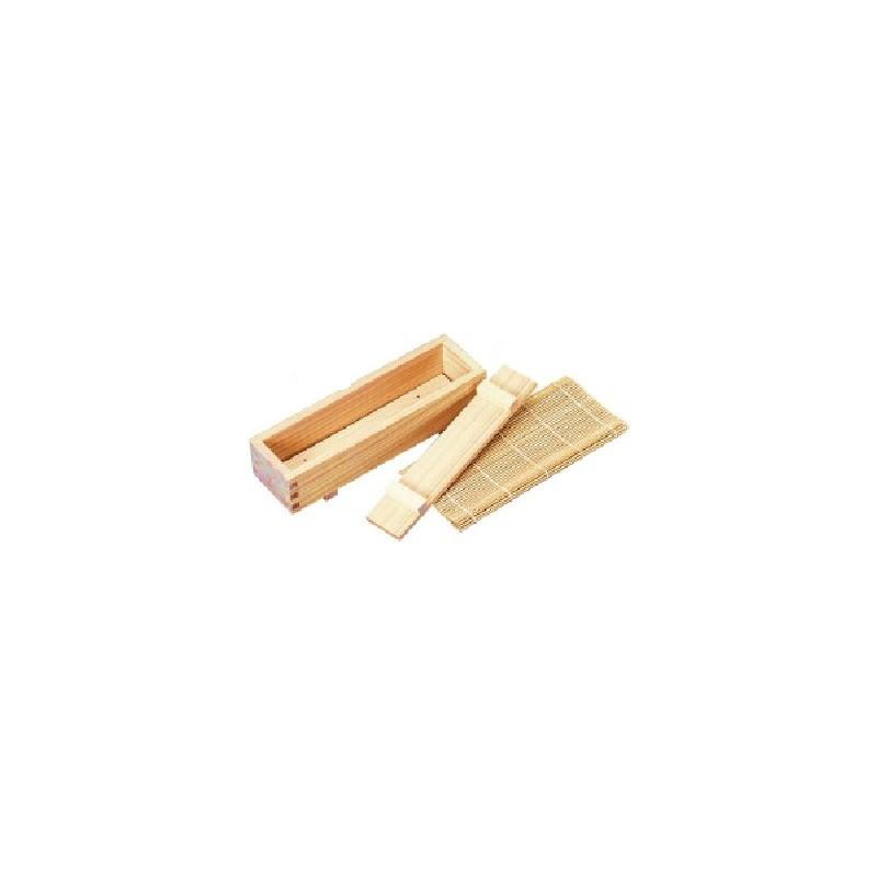 japonaise > Kit pour sushismakis boite bois avec natte bambou naturel