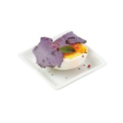 12 assiettes carreés miniatures CLELIA en porcelaine