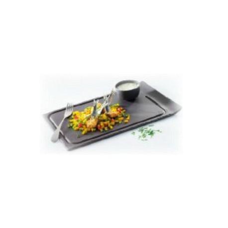 Assiette à steak avec 1 bord relevé gamme Basalt Revol (x2)