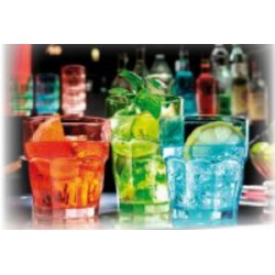 6 gobelets rock bar Bormioli Rocco rose, ou menthe, ou ice blue