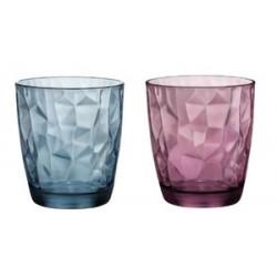 6 gobelets Diamond Bormioli rocco acqua bleu ou violet