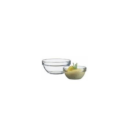 6 saladiers Arcoroc empilables en verre trempé