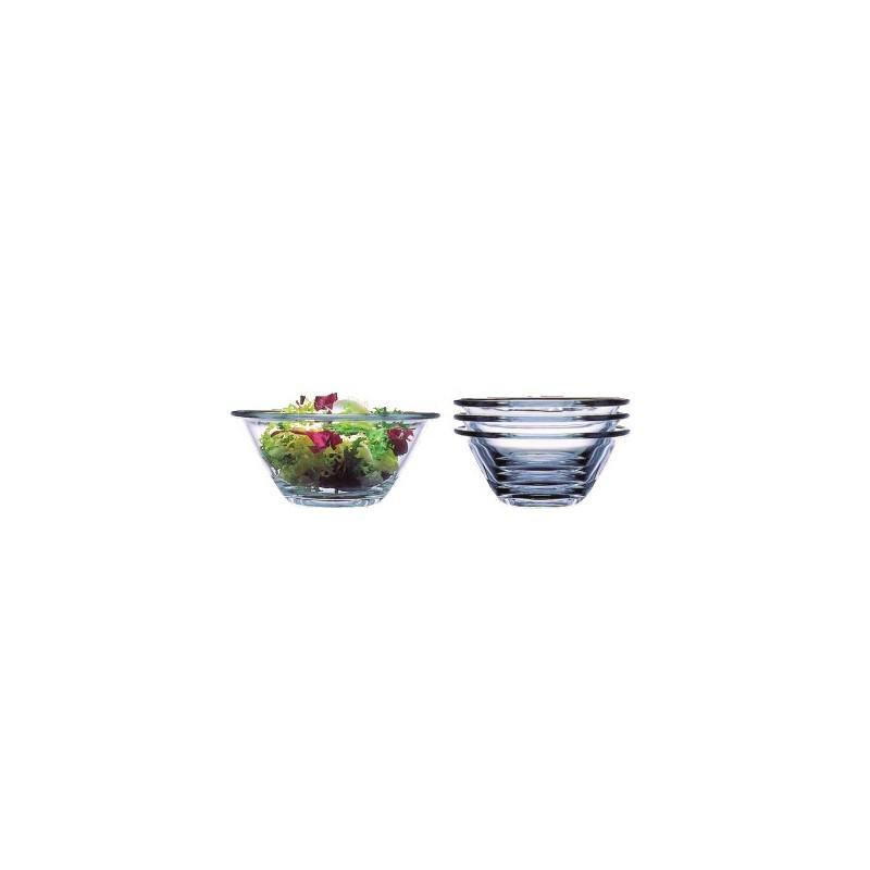 6 saladiers mr chef bormioli rocco empilables en verre trempe. Black Bedroom Furniture Sets. Home Design Ideas
