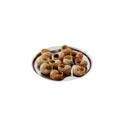 Assiette/plat inox pour 12 escargots