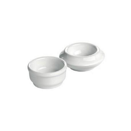 Beurrier en porcelaine hôtelière Revol (x6)