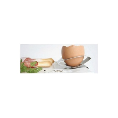Porte-oeuf en inox flexible à pincer sur le bord d'une assiette