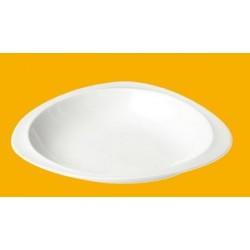 Assiette à pâtes, couscous galet en porcelaine (x3)