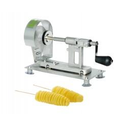 Coupe frites en spirale: machine à brochette spirale