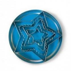 Boîte de 5 découpoirs étoiles fer blanc