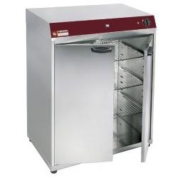Armoire chauffante ventilee 2 portes battantes pour 120 assiettes ou bac gn 2/3 et gn 1/1