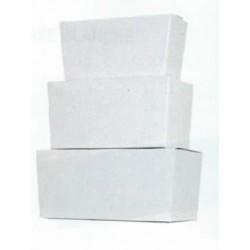 Ballotin BLANC GLACE pour confiseries, chocolat intérieur or par 25