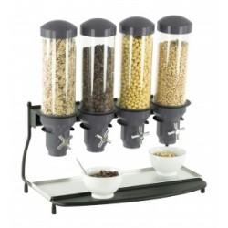 Distributeur de céréales quadruple (4 tubes)