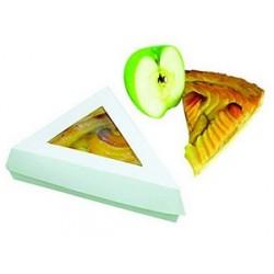 Boîte snacking triangle pour part de tarte, quiche, tourte par 50