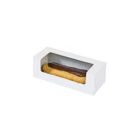 Boîte snacking rectangulaire pour éclair/macaron par 50