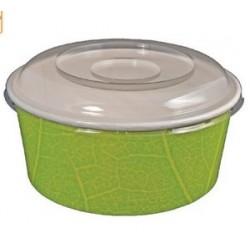 Bol snacking pour salade composée en carton vert par 50