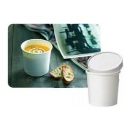 Gobelet carton à soupe et boisson chaude micro-ondable par 25