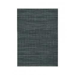 Set de table vynil tissé noir blanc rayures verticales (x12)