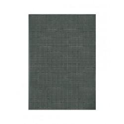 Set de table vynil tissé taupe relief horizontal (x12)