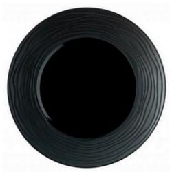 Assiette plate en grès noir (x6)