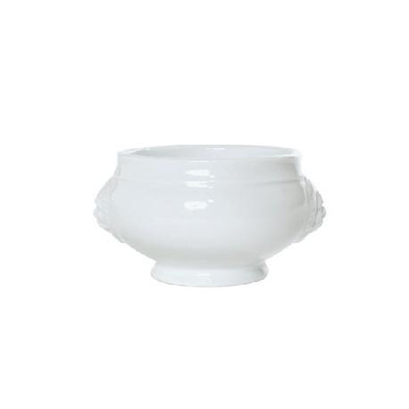Soupière tête de lion 45cl en porcelaine blanche (x4)