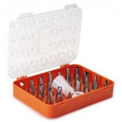 Boîte de 26 douilles inox assorties pour décoration culinaire LACOR 68991