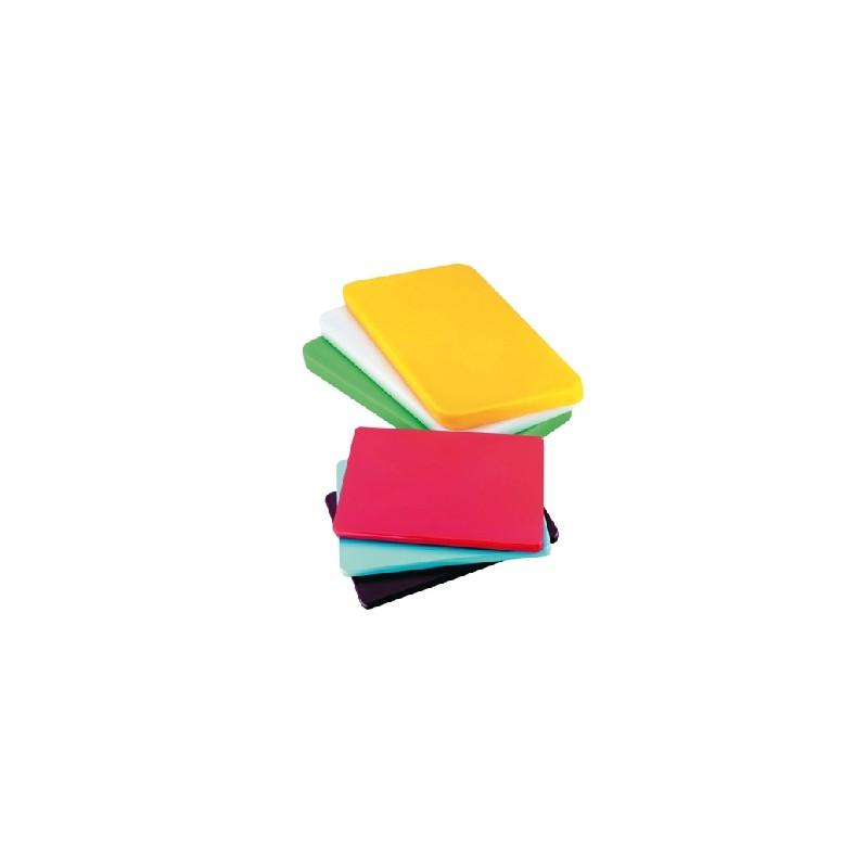 Planche a decouper en polyethylene de couleur 45x30cm - Planche de couleur ...