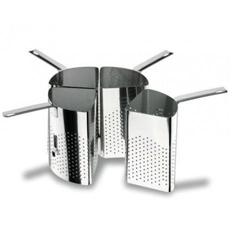 Cuit pâtes passoire 4 segments inox ø 36cm LACOR 50335