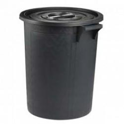 Poubelle d'extérieur 75 litres noir