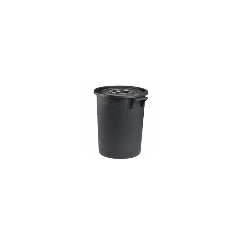 Poubelle d 39 ext rieur 75 litres noir for Grande poubelle exterieur