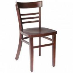Chaise Bistrot bois wengé (par 2)