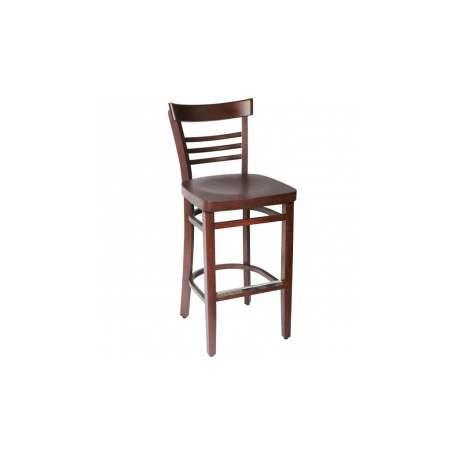 lot de 2 tabourets bistrot bois weng. Black Bedroom Furniture Sets. Home Design Ideas