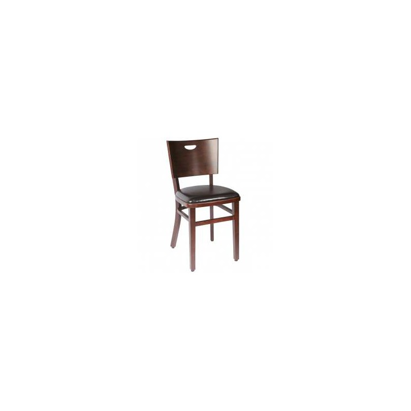 lot de 2 chaises bistrot confort bois weng assise simili. Black Bedroom Furniture Sets. Home Design Ideas