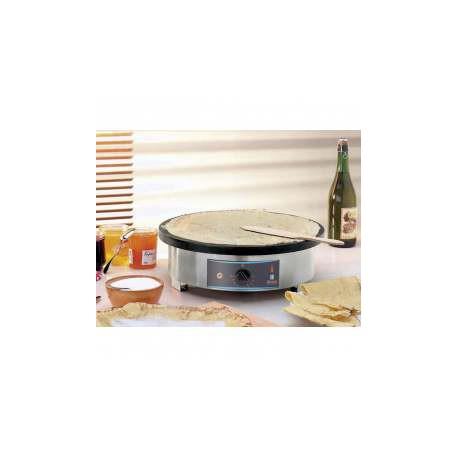 Cr pi re professionnelle lectrique ou gaz plaque 400 mm for Cuisine gaz ou electrique