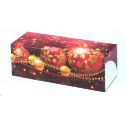 Boîte à bûches, gâteaux longs, cakes noel rouge x 25
