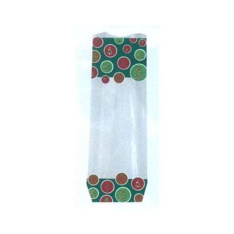 Paquet de 100 sacs polypropylène fond carton, décor green trees pour chocolat, confiserie
