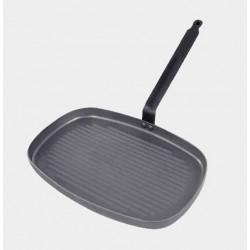 Poêle grill rectangulaire CARBONE PLUS