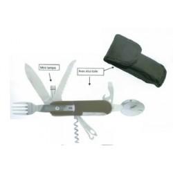 Couteau de poche bivouac multifonction