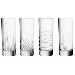 Coffret de 4 verres assortis LINELY SEASIDE